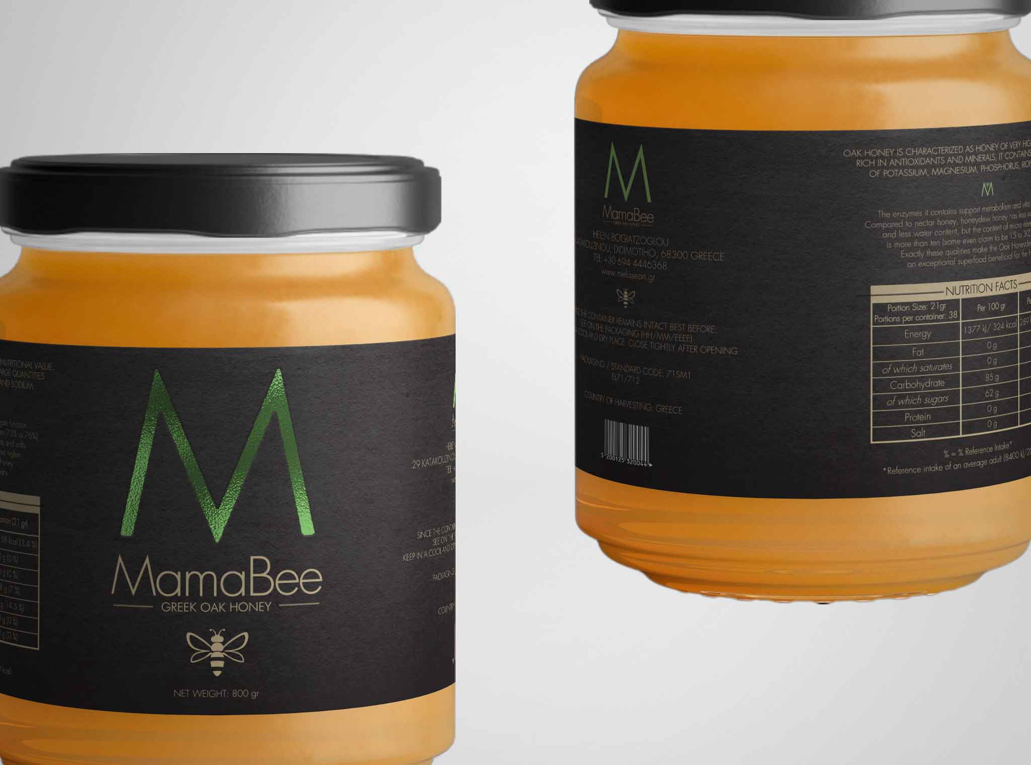 Mama Bee Label Design