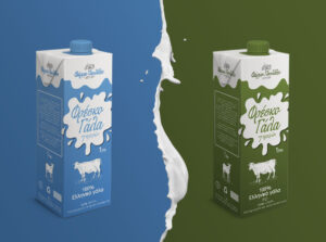 Pavlides fresh milk packaging